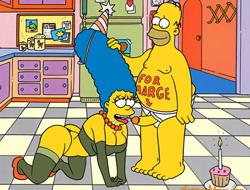 Симпсоны: Гомер трахает Мардж играть